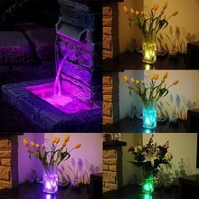 ZINUO LED Submersible Lamp RGB Night Lights Multi Color Remote Battery