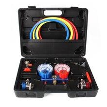 AC Refrigeração Kit A/C Conjunto de Manómetros para R12 R22 R134a Ar 410a R404z