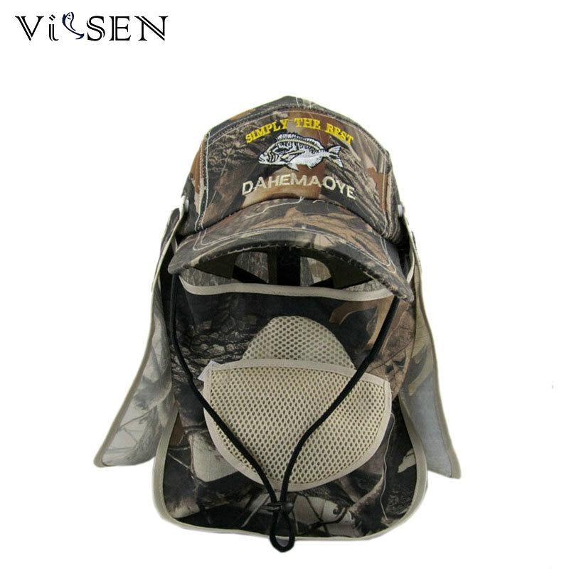 Vissen pesca outdoor sport fishing cap hiking visor hat uv for Fishing hats sun protection