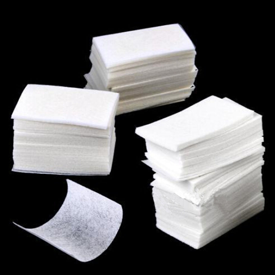 New 400pcs/set Nail Art Wipe Manicure Polish Gel Nail Wipes  Cotton High Quality Lint Cotton Pads Paper Acrylic Gel Tips