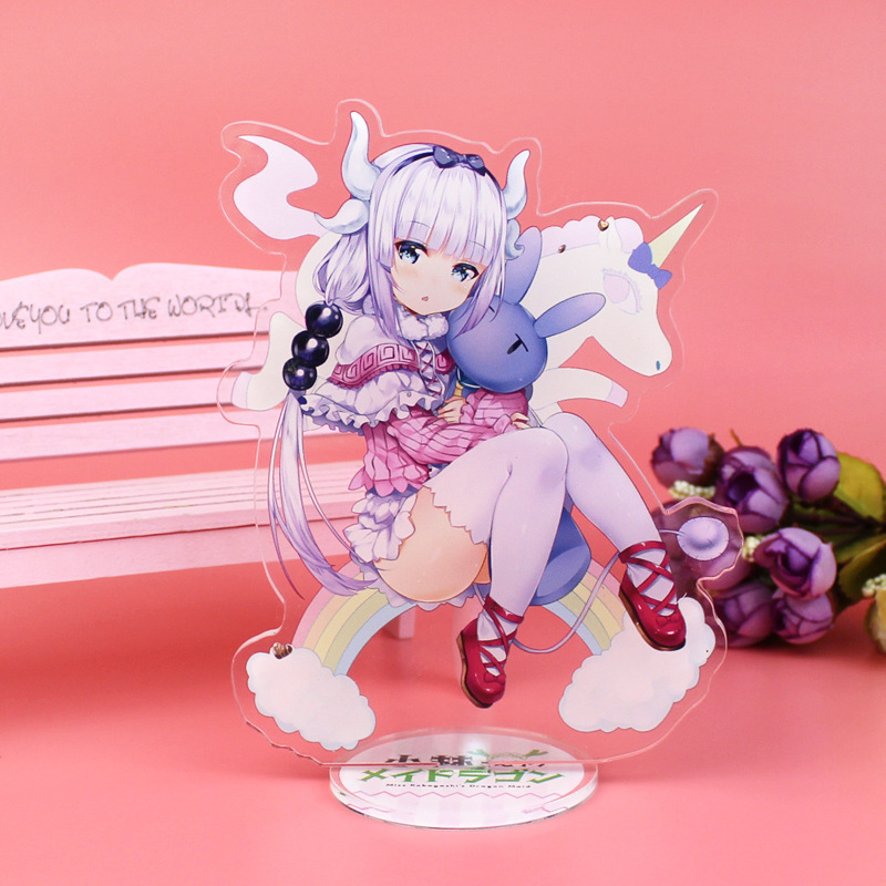 Anime Miss Kobayashi's Dragon Maid Display Big Stand Figure Model Plate Holder Japanese Cartoon Figure Collection Christmas Gift