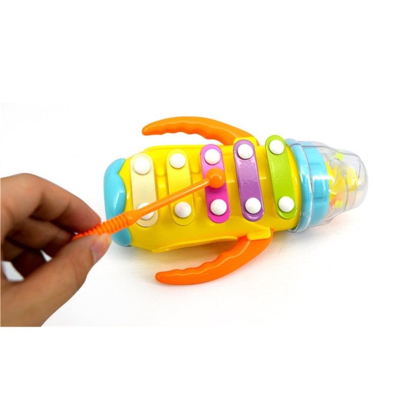 Plastic Toy Musical Instruments : Baby infant rattles musical instrument toy plastic