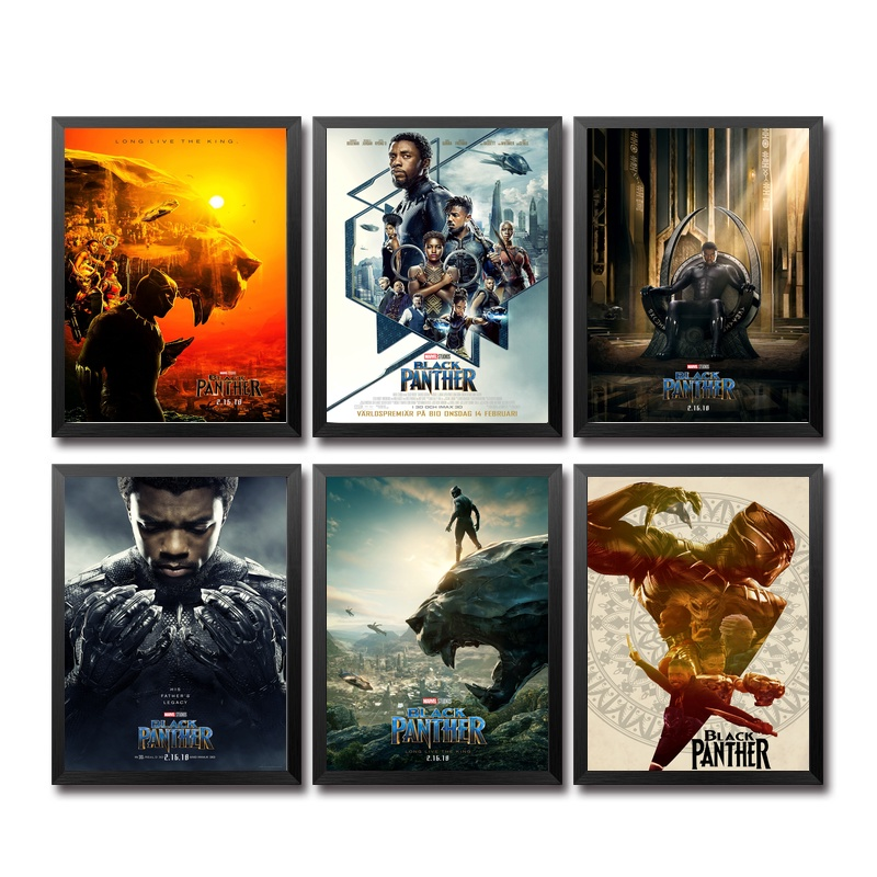 New Black Panther (2018) Art Marvel Movie Poster 36 x 24