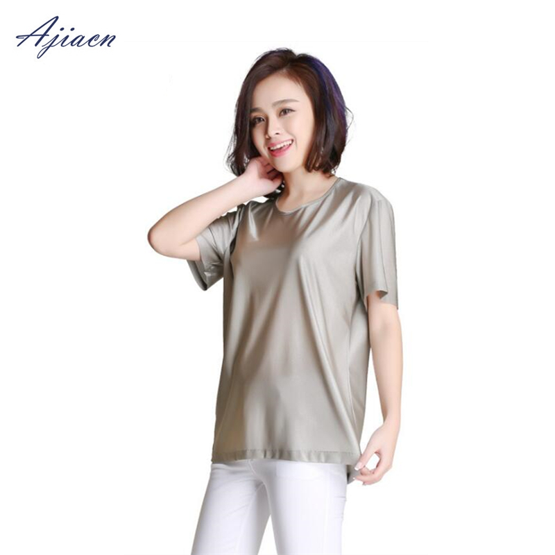 Image 2 - Genuine Electromagnetic radiation protection 100% silver fiber T shirt protect body health EMF shielding short sleeved shirt-in Safety Clothing from Security & Protection
