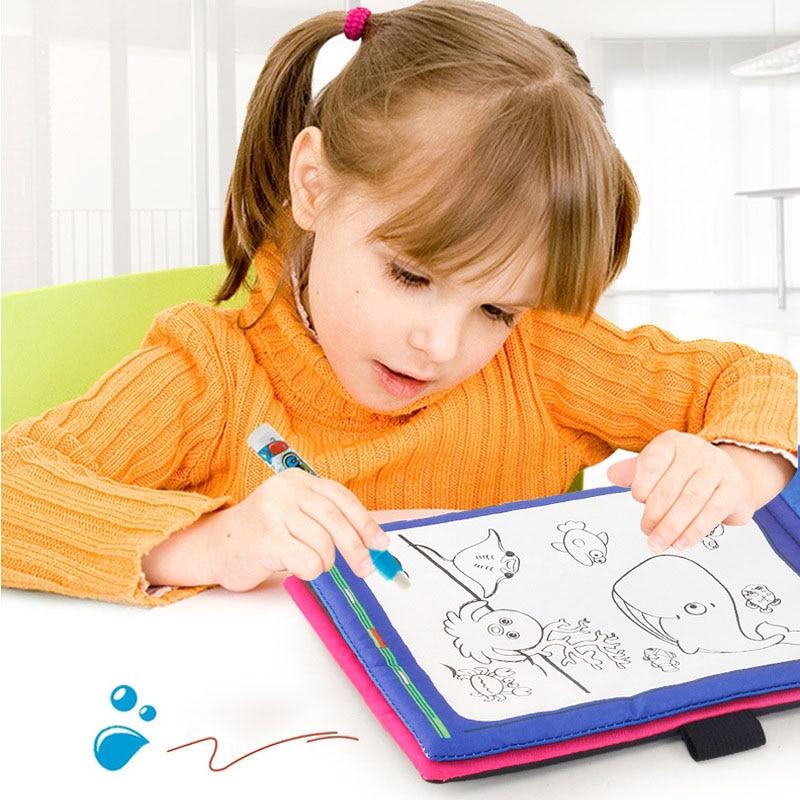 1 pcs agua desenho pintura livro pano nao toxico reutilizavel educacional para criancas criancas bm88