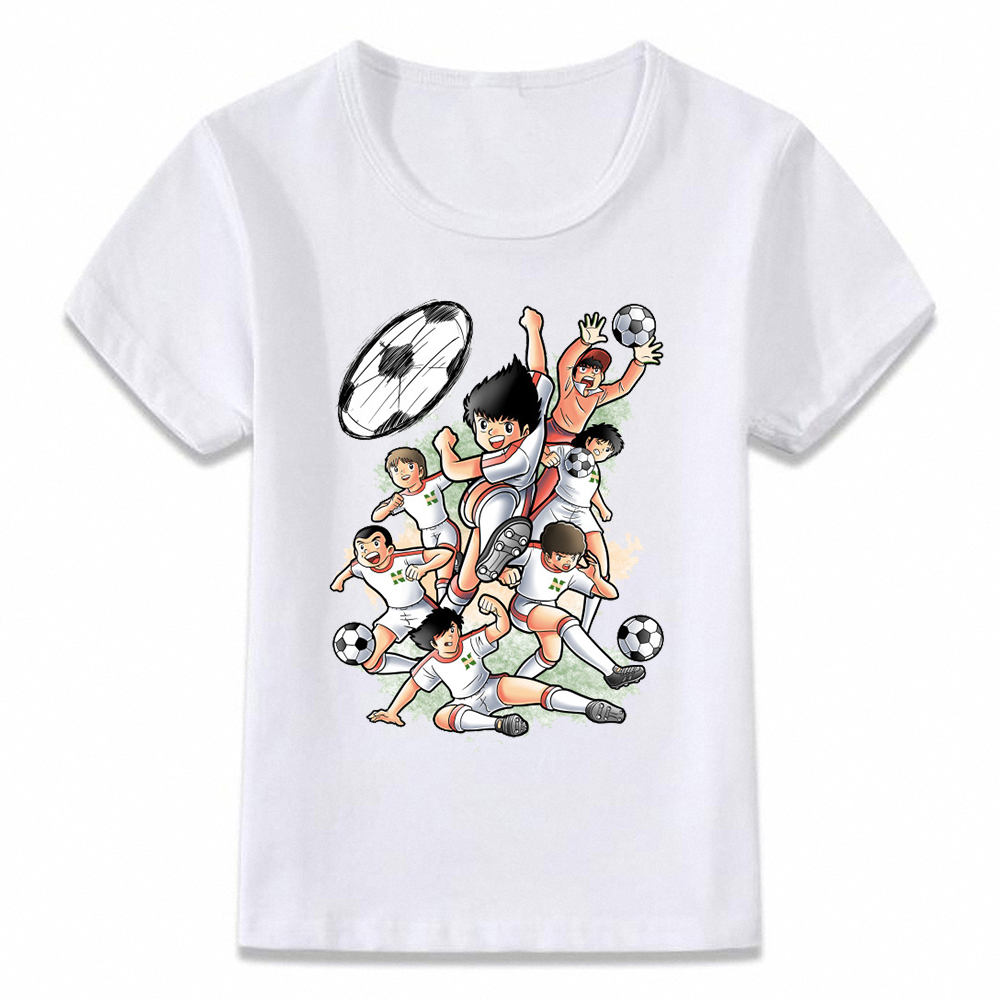 Kids Clothes T Shirt Captain Tsubasa Le Petit Footballer Anime Artwork Boys And Girls Toddler Shirts Tee Oal156
