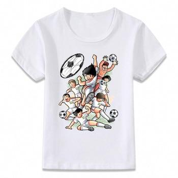 Kids Clothes T Shirt Captain Tsubasa Le Petit Footballer Anime Artwork Boys and Girls Toddler Shirts Tee oal156