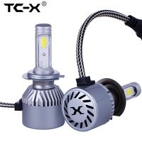 TC X 2pcs Lot 880 High Power COB LED Chips Car Headlights Conversion Kit 72W 8000LM