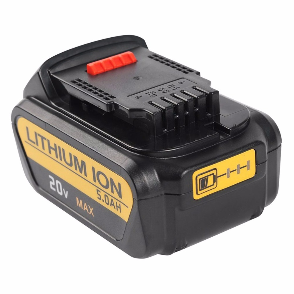 GTF 20V 5.0A 5000mah Rechargeable Li-ion Battery Portable Replacement Battery Backup Battery For Dewalt Electric Power ToolGTF 20V 5.0A 5000mah Rechargeable Li-ion Battery Portable Replacement Battery Backup Battery For Dewalt Electric Power Tool