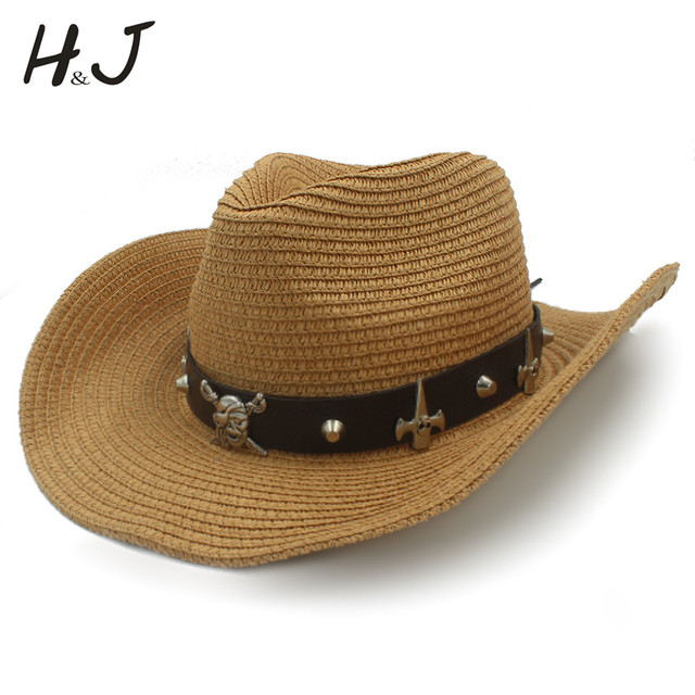 63c30aaceff Women Men Straw Western Cowboy Hat With Roll Up Brim Lady Gentleman Jazz  Sombrero Cap Summer