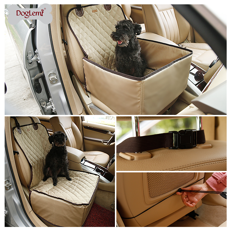 Doglemi Dogs Pet Car Carrier 900D Nylon Waterproof Dog Bag Car Booster Seat Cover Carrying Bags Small Dogs Travel