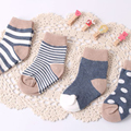 4 Pairs Pack Newborn Spring Socks Baby boys girls Infant Animal Anti Slip Cotton Children Soft Casual Floor Socks Free Shipping