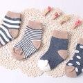 4 Pairs Paquete de la Primavera Recién Nacido Calcetines de Bebé niños niñas Infantiles Animal Anti Slip de Algodón Suave de Los Niños Ocasionales Calcetines Del Piso Del Envío gratis