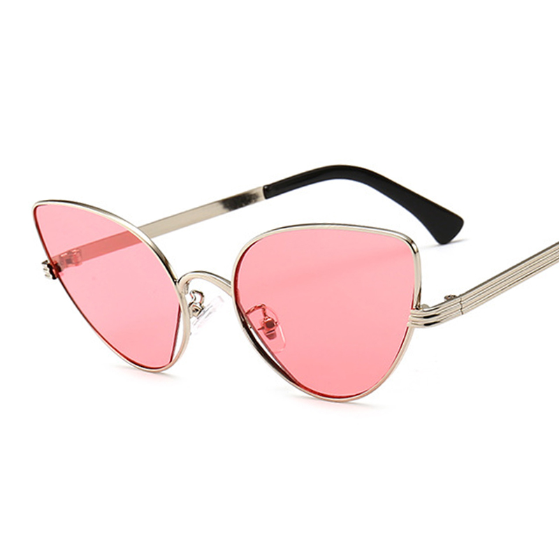 Fashion Vintage Ladies Cat Eye Sunglasses Women Brand Designer Rose Gold super star Lady Brand Coating Mirror Sun Glasses UV400
