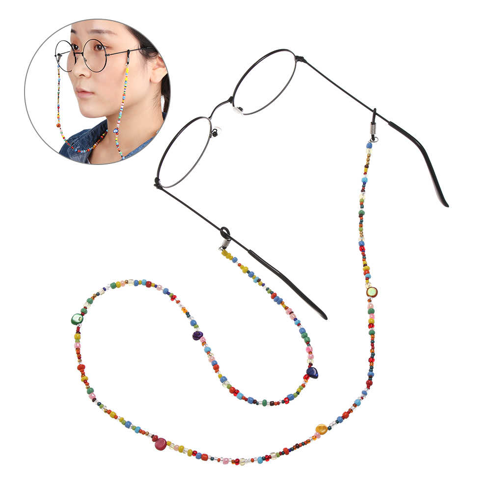 1Pcs 60/70/76CM Reading Glasses Chain for Women Shell Beads Sunglasses Cords Beaded Eyeglass Lanyard Hold Straps Glasses Rope