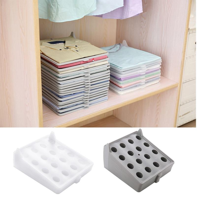 1pcs  Clothing Storage Board PP Arrangement T-Shirt Shorts Multi-Functional Wardrobe Shirt Folding Board Clothing Folder Board
