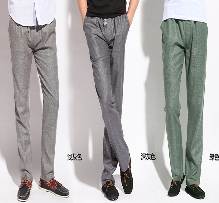 Popular Mens Grey Linen Pants-Buy Cheap Mens Grey Linen Pants lots ...