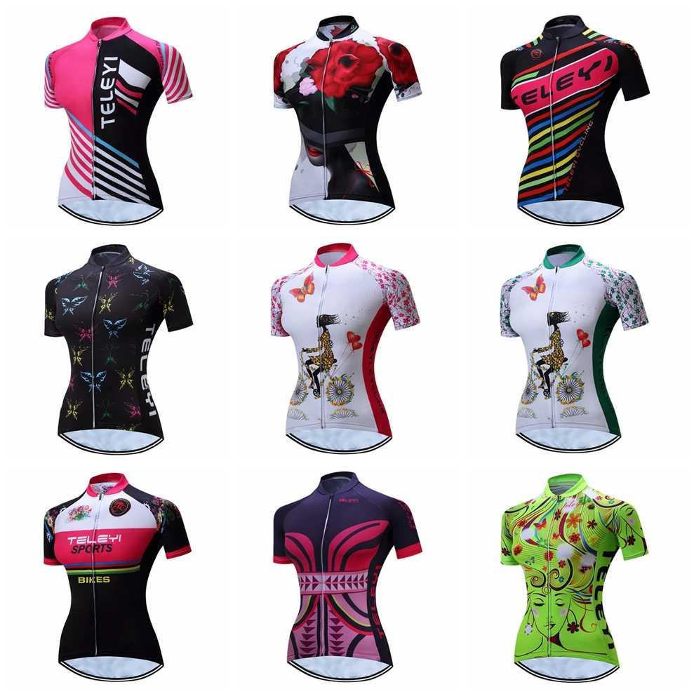 Cycling Jersey Women Bike Top Shirt Summer Short Sleeve MTB mountain Ropa  Maillot Ciclismo Racing Bicycle 53ba284f2