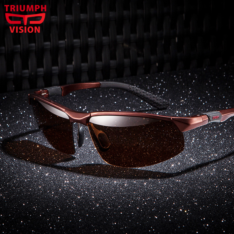 TRIUMPH VISION Luxury Mens Polarized Sunglasses Goggle Aluminium Magnesium Sun Glasses Male Lunette Driving Shades Oculos de sol