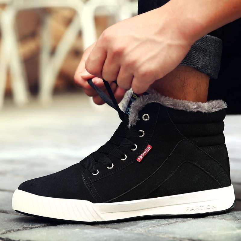 LAISUMK Size 39-47 Autumn Winter Main Push Brand Fashion Men Leisure Ankle Boots Warm Adult Comfortable Sneakers Plush