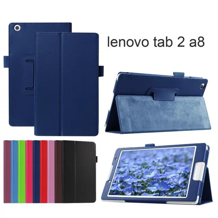 For lenovo tab2 A8 PU leather stand protective Case cover for lenovo tab 2 A8-50 A8-50F A8-50LC 8 tablet +film+pen