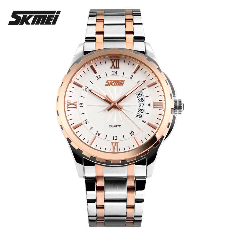 2019 SKMEI 高級トップブランド男性腕時計メンズクォーツ時計カレンダー時間 30 メートル防水スポーツ腕時計レロジオ Masculino 9069