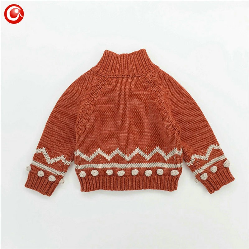 Children Girls Cardigan Orange Baby Boys Cotton Sweater Button Kids Warm Knitted Wear Clothes Crochet Coat Clothing 1-4Y (12)