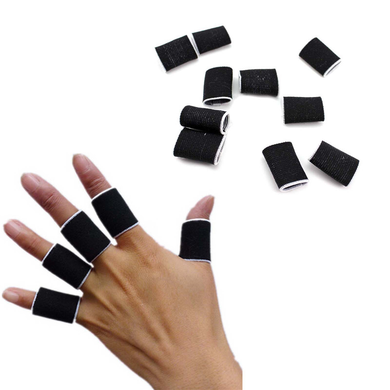 10X Children Kids Basketball Sports Stretchy Finger Protector Sleeve Fingerstall