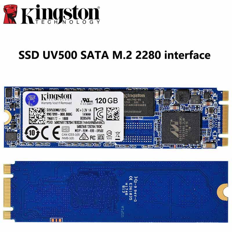 Kingston SSD interne 480GB 240GB 120GB SATA3 M2 2280 Interface SUV500M8 lecteur à semi-conducteurs HD crypté pour livraison directe d'ordinateur portable