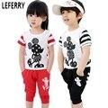 8 T Bonito Roupas de Bebê Menino Define Crianças Menino Roupas de Verão conjunto T Shirt + calções Crianças Roupas Menino Dos Desenhos Animados Verão roupas
