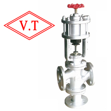 Automatic  Cylinder type  Three-way Control Valve (pneumatic steam valve)(VT)