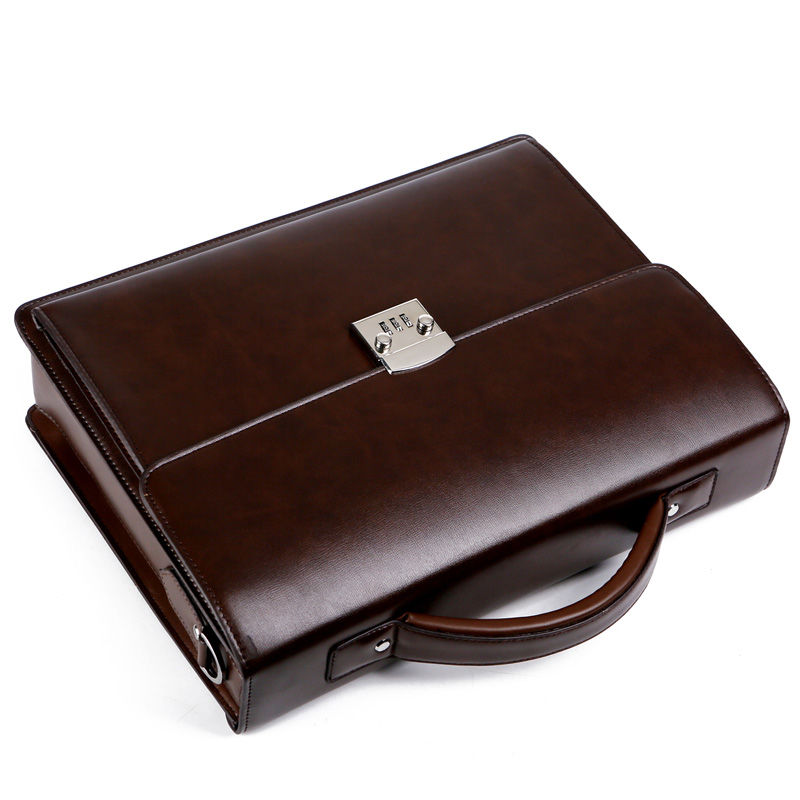 Genuine leather men 39 s Crossbody Bag High Quality Business Briefcase Bag Shoulder Messenger Bags Office Handbag Laptop Briefcases in Crossbody Bags from Luggage amp Bags