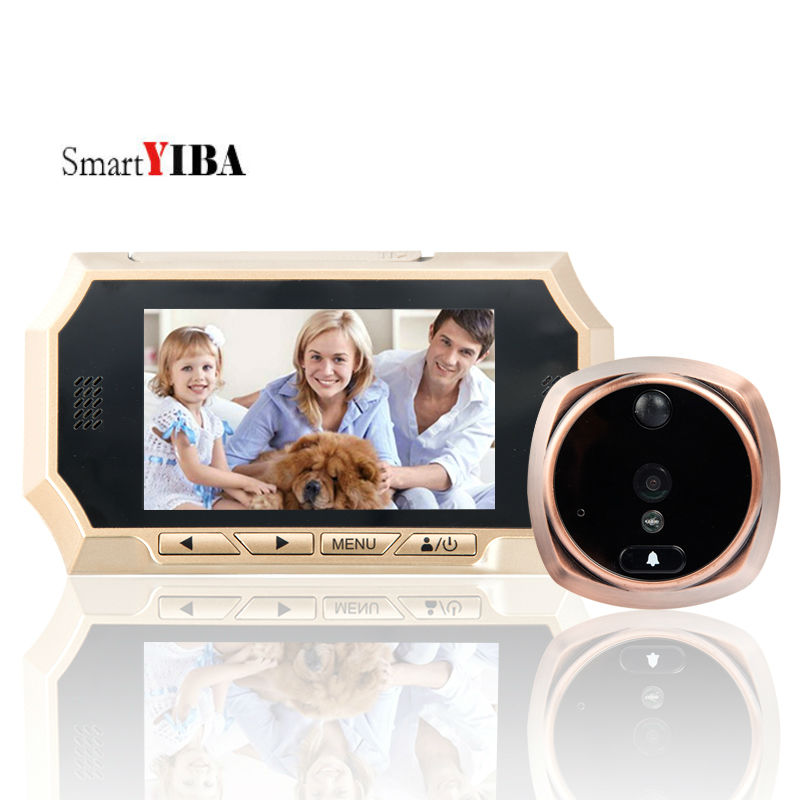 SmartYIBA 720P Wide Angle 4.3 Video Door Bell Video Door Viewer Motion Detection Auto-Recording Door Peephole Viewer Door EyeSmartYIBA 720P Wide Angle 4.3 Video Door Bell Video Door Viewer Motion Detection Auto-Recording Door Peephole Viewer Door Eye