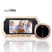 SmartYIBA 720P Wide Angle 4.3″ Video Door Bell Video Door Viewer Motion Detection Auto-Recording Door Peephole Viewer Door Eye