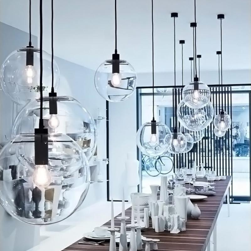 GZMJ Moderne Nordic Rose Gold Black Glass Ball Pendelleuchte Lamp ...