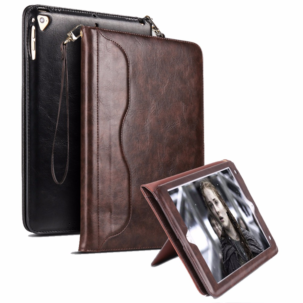 все цены на For Funda iPad Air 2 Case Book Premium Leather Stand Case Smart Auto Wake/Sleep Cover for iPad Air 2 Air 1 Pro 9.7 New iPad 9.7