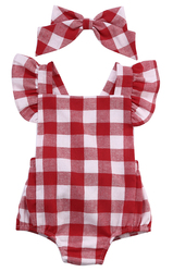 2016 newborn infant kids baby girl bodysuit 0 18m cute girls toddler kids clothing red plaid.jpg 250x250