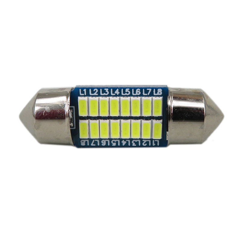 WLJH 4stk Bilinteriörlampa 28mm 31mm 36mm 39mm 41mm LED-lampor C10W - Bilbelysning - Foto 2