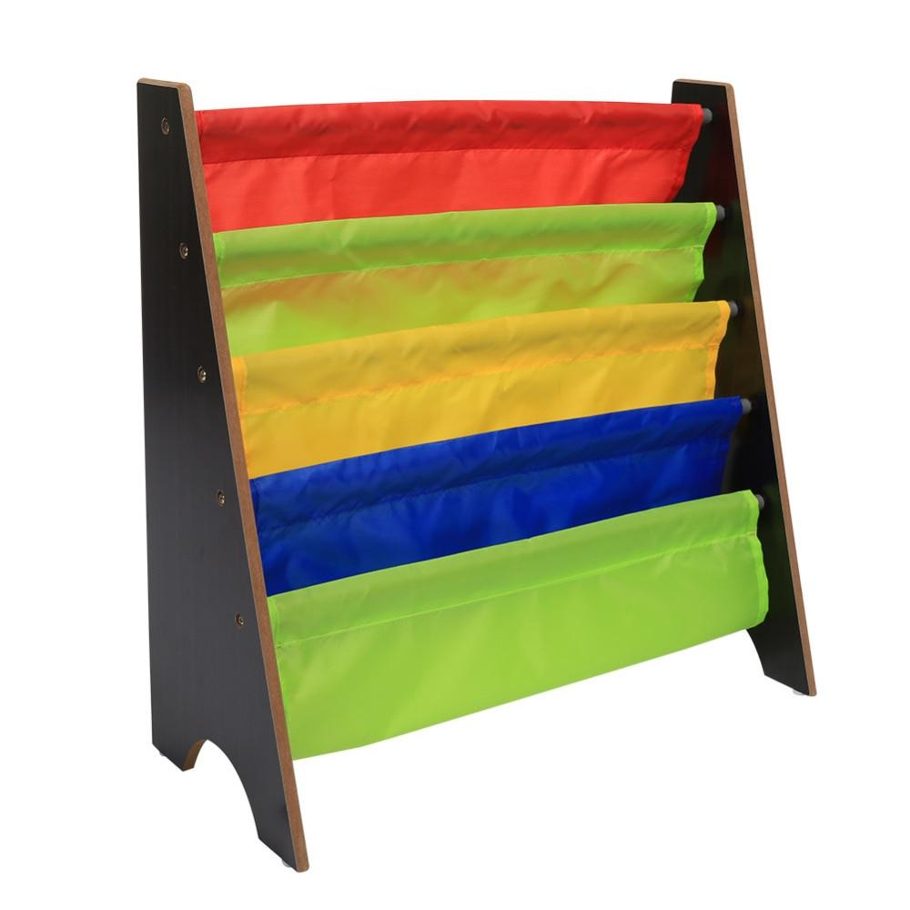 Image 5 - 4 Tiers Wood Shoes Rack Shelves Holder Storage Home OrganizerMulti color Pocket Bookshelf Children Furniture Bookcase-in Bookcases from Furniture