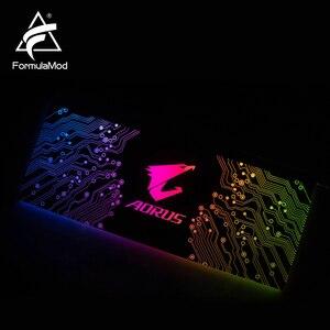 Image 5 - Formulamod fm db、gpu装飾バックプレート、5v 3pinと照明ledアクリルバックプレーン、マザーボードに同期することができ