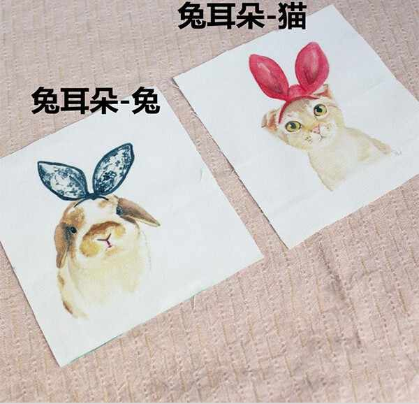 ZENGIA 12*12 cm conejo búho impreso mano teñida algodón Lino tela costura Diy Patchwork bordado a mano bolsas de acolchado /monedero/hogar Dec