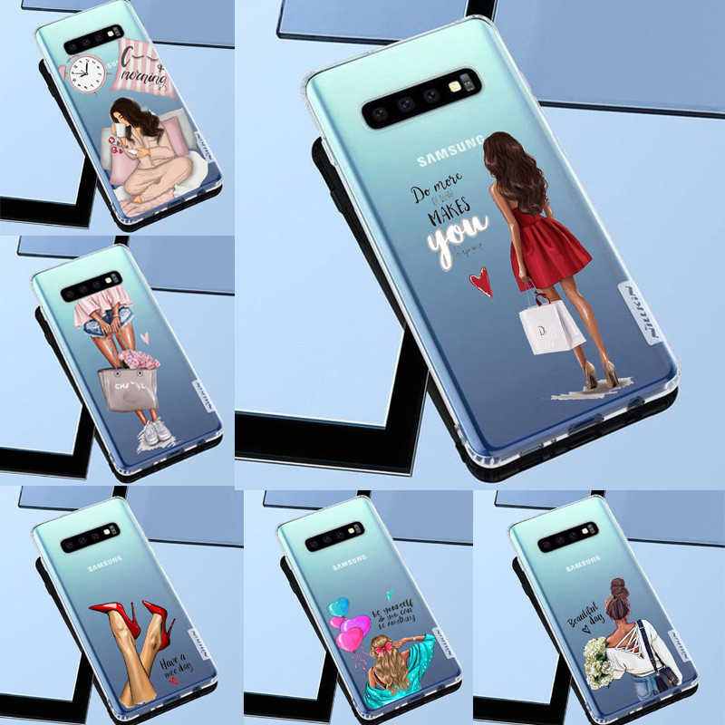 VOGUE Queen Princess Girl Female boss coffee Soft Silicone TPU phoneCase For Samsung S6 S6edge S7 S8PIUS S9 S10 S10Plus NOTE245