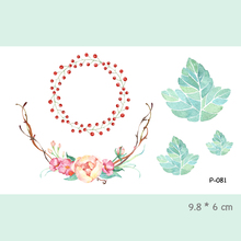 Wyuen Watercolor Flower Waterproof Temporary Tattoo Stickers For Adults Kids Body Art Fake Tatoo For Women Men Tattoos P-081