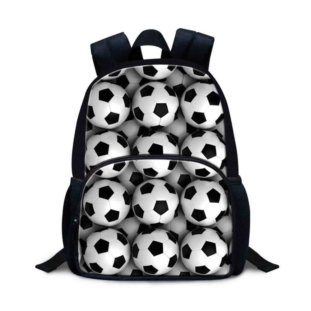 Ball Printed Small Backpack For Preschool Students Soccerly