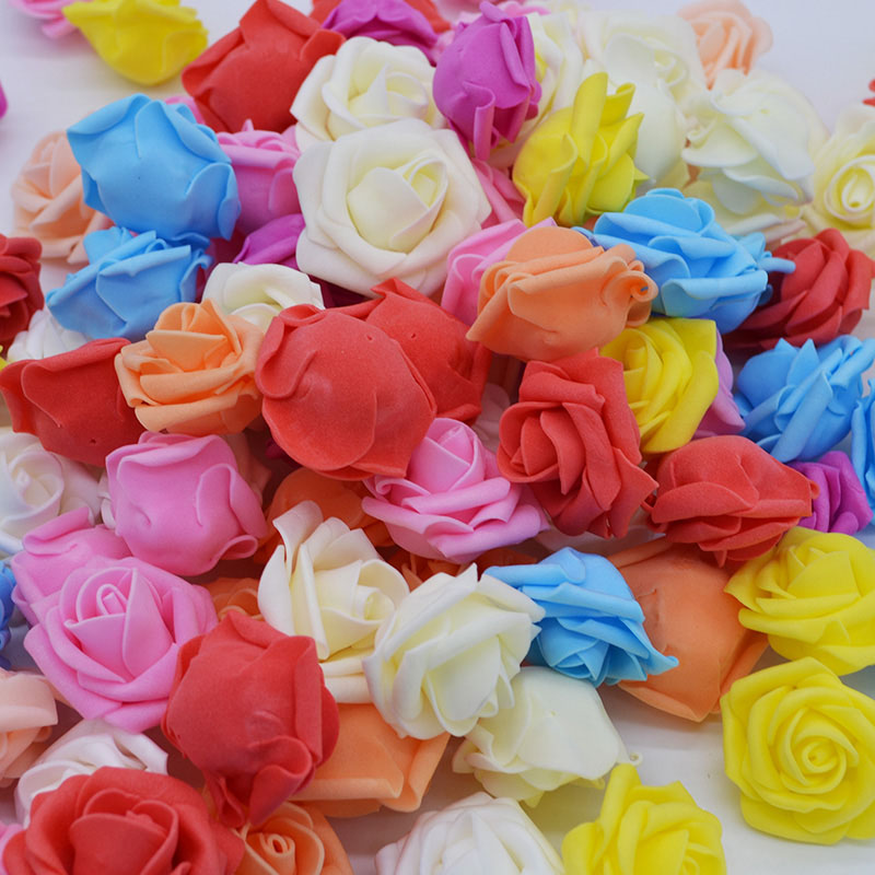 20Pcs/pack Artificial Real Touch Rose Head All for Wedding Party Arrangement DIY PE Foam Home & Living Decoration Rose Flowers