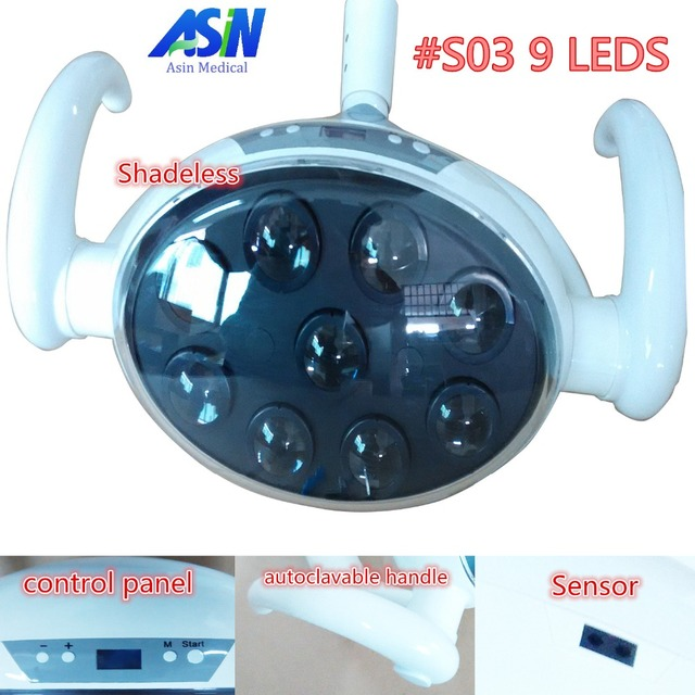 High Quality 2016 new 9 LEDs dental lamp with Sensor Oral Light Lamp for Dental Unit Chair implant surgery lamp shadeless