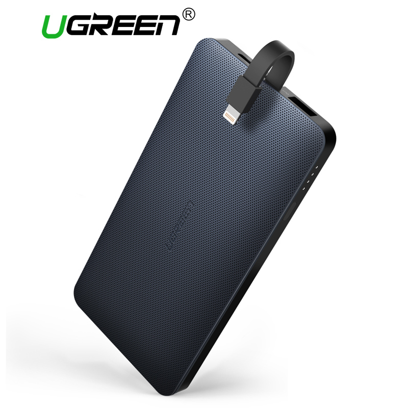 Ugreen Power Bank 10000mAh External Phone Battery Charger Pack for iPhone X 8 Portable Powerbank 10000 for Xiaomi Poverbank