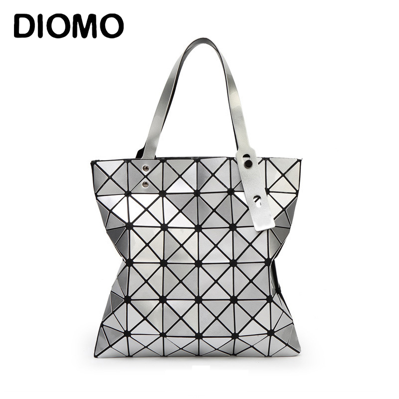 DIOMO Women's handbags shoulder bag tote 2017 geometric lattice women bag designer handbags high quality top-handle bags mesh open shoulder side ruched lattice top