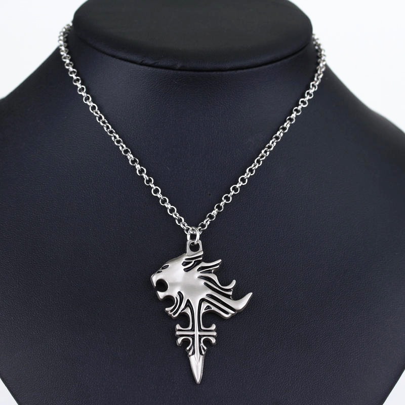 [PCMOS] 2017 New Anime Final Fantasy VIII 8 Griever Squall Leonhart Lion Head Necklace Cosplay Pendant Collection 16062502