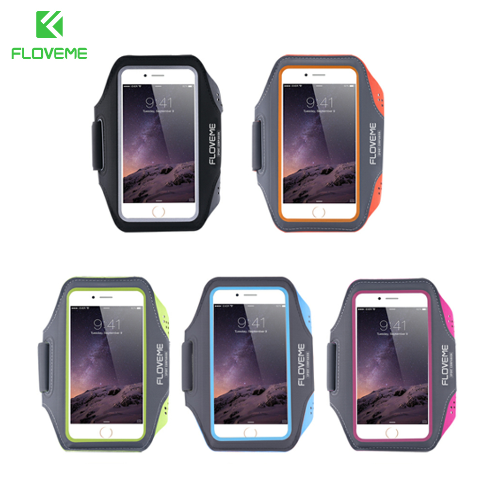 FLOVEME 4.7 Universal Waterproof Sport Arm Band Case For iPhone 6 6s 7 8 5S SE Case Running Sport Touch Sensitive Phone Cases